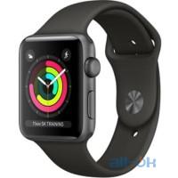 Apple Watch Series 3 GPS 42mm Space Gray Aluminum w. Gray Sport B. - Space Gray MR362
