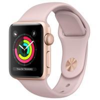 Apple Watch Series 3 GPS 38mm Gold Aluminum w. Pink Sand Sport B. - Gold MQKW2