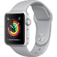 Apple Watch Series 3 GPS 38mm Silver Aluminum w Fog Sport B - Silver MQKU2