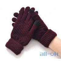 Перчатки для сенсорных экранов Maroon
