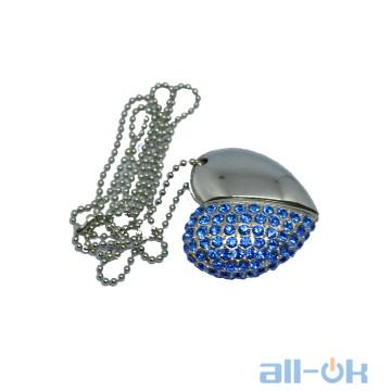 Флешка USB 16Gb Jewellery Heart Blue