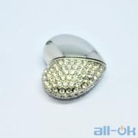 Флешка USB 16Gb Jewellery Heart Silver