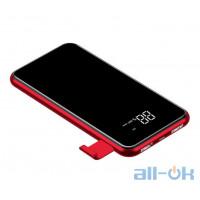Беспроводное зарядное устройство Power Bank 8000 mAh Baseus QI LCD Screen Wireless Charger Red