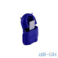 Micro USB Male to USB Female OTG Adaptor Android Blue