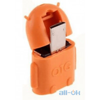 Micro USB Male to USB Female OTG Adaptor Android Orange