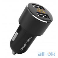 АЗУ CELBRO 3.6A Car USB Charger LED Display Metal Dual USB