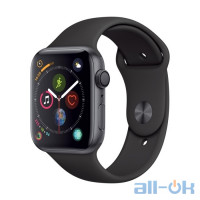 Apple Watch Series 4 GPS 40mm Gray Alum. w. Black Sport l. Gray Alum. (MU672)