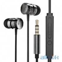Наушники Rock In-Ear Metal Earphones Stereo Headset Black