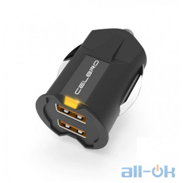 АЗУ CELBRO Smallest Mini USB Car Charger Adapter 2A