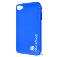 Чехол Borofone case blue для iphone 4/4s