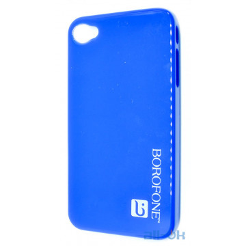Чехол Borofone case blue для iphone 4/4s