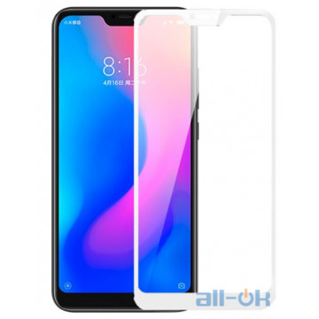 Защитное стекло Full Screen Xiaomi Redmi 6 Pro/Mi A2 Lite White