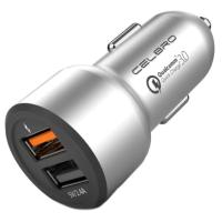 АЗУ Car Charger CELBRO Quick Charge 3.0 Dual USB Silver