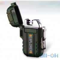 Тактическая Электроимпульсная водонепроницаемая USB зажигалка цвет Хаки