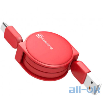 Кабель Cafele USB to Type C roulette Red