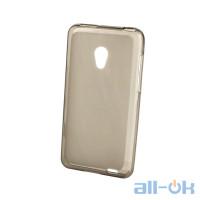 Накладка силиконовая для телефона Meizu MX2 черный и прозрачный