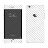 Карбоновая наклейка для iPhone 5/5s белого цвета