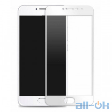 Захисне скло для Meizu M5C з рамкою White