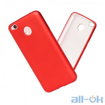 Чохол Matte Soft Case для Xiaomi Redmi 4X Red Black Blue