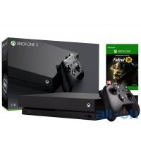 Игровая приставка Microsoft Xbox One X 1TB + Fallout 76