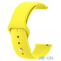 Ремінець для Xiaomi Amazfit Bip Yellow 20 мм