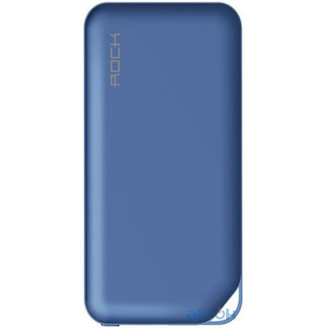 Зовнішній акумулятор (Power Bank) ROCK P42 Power Bank 2 A 10000 mAh Blue (X06-Blue)
