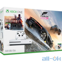 Игровая приставка Microsoft Xbox One S 500GB + Forza Horizon 3