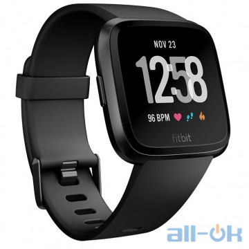 Смарт-часы Fitbit Versa, Black/Black Aluminum (FB505GMBK)