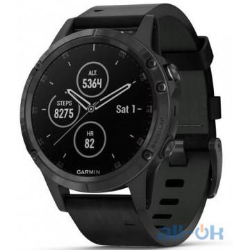 Спортивные часы Garmin Fenix 5S Plus Sapphire Black with Black Band (010-01987-02)