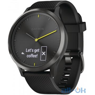 Спортивные часы Garmin Vivomove HR Black with Black Silicone Band (010-01850-11)