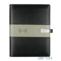 NEWYES A5 Smart Erasable Power Bank з бездротовою зарядкою 8000 mah USB-накопичувач 16GB  Органайзер Black