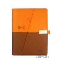 NEWYES A5 Smart Erasable Power Bank з бездротовою зарядкою 8000 mah USB-накопичувач 16GB  Органайзер Orange