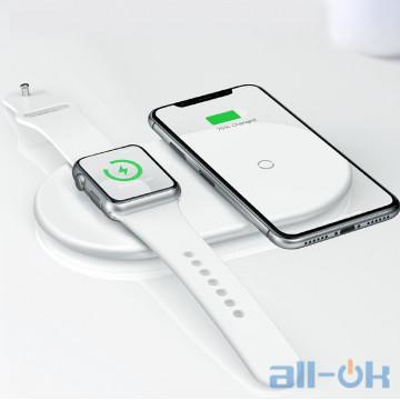 Бездротовий зарядний пристрій 2 в 1 Baseus Qi BSVC-P20 для смартфону та Apple Watch 1-4 series