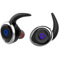 AWEI T1 Twins Earphones Black-Silver