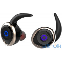 AWEI T1 Twins Earphones Black-Gold