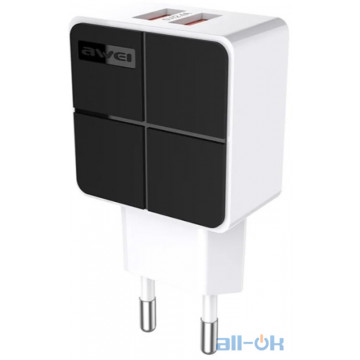AWEI C-500 Travel charger 2USB 2.4A Black