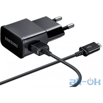 Samsung Travel Charger 1USB 2A + MicroUSB Cable 1.2m Black