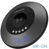 Портативна акустика  AWEI Y290 Bluetooth Speaker-Wireless Charger Grey