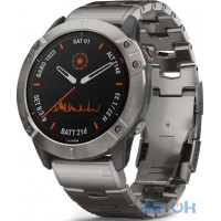 Смарт- годинник Garmin Fenix 6X Pro Solar Titanium with Vented Titanium Bracelet (010-02157-24)