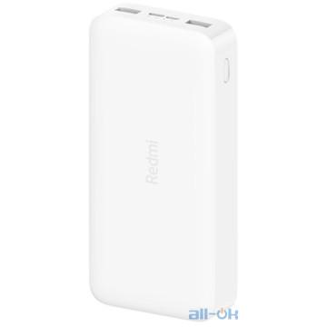 Внешний аккумулятор (Power Bank) Xiaomi Redmi Power Bank 20000mAh White (PB200LZM, VXN4265)