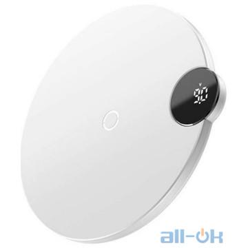 Беспроводное зарядное устройство Baseus Digtal LED Display White (WXSX-02)