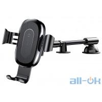 Автомобильный держатель - беспроводная зарядка Baseus Car Holder Gravity Heukji Wireless Charger Black (WXZT-01)