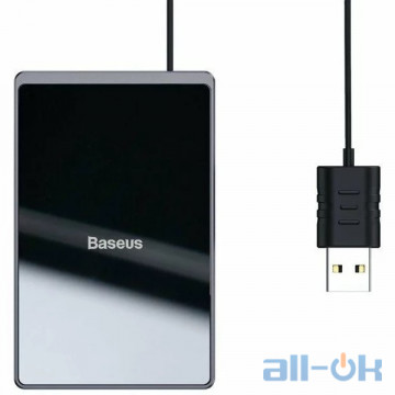 Беспроводное зарядное устройство Baseus Card Ultra-Thin 15W Wireless Charger Black (WX01B-01) UA UCRF