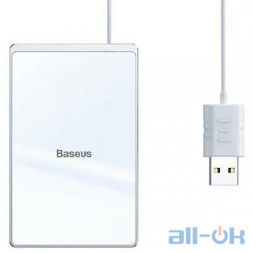 Беспроводное зарядное устройство Baseus Card Ultra-Thin 15W Wireless Charger Silver+White (WX01B-S2)