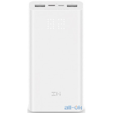 Внешний аккумулятор (Power Bank) ZMI QB821 Aura 20 000 mAh Type-C White (QB821)