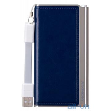 Внешний аккумулятор (Power Bank) Momax iPower Elite 5000mAh Emboss Blue (IP51AB)