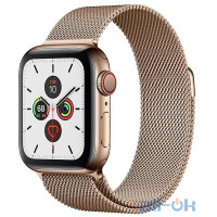 Apple Watch Series 5 LTE 40mm Gold Steel with Gold Milanese Loop (MWWV2/MWX72)