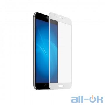 Защитное Стекло с рамкой Full Screen Meizu Pro 6 Plus White