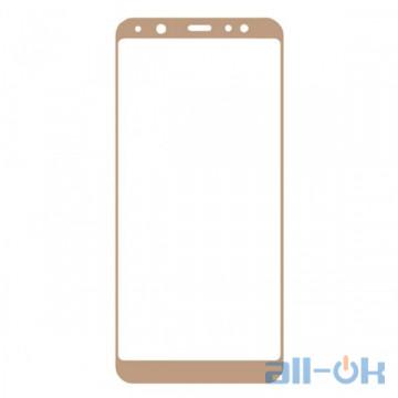 Защитное Стекло Full Screen Samsung A600 (A6-2018) Gold
