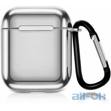 Кейс TOTO Electroplate TPU Cover Case AirPods Silver